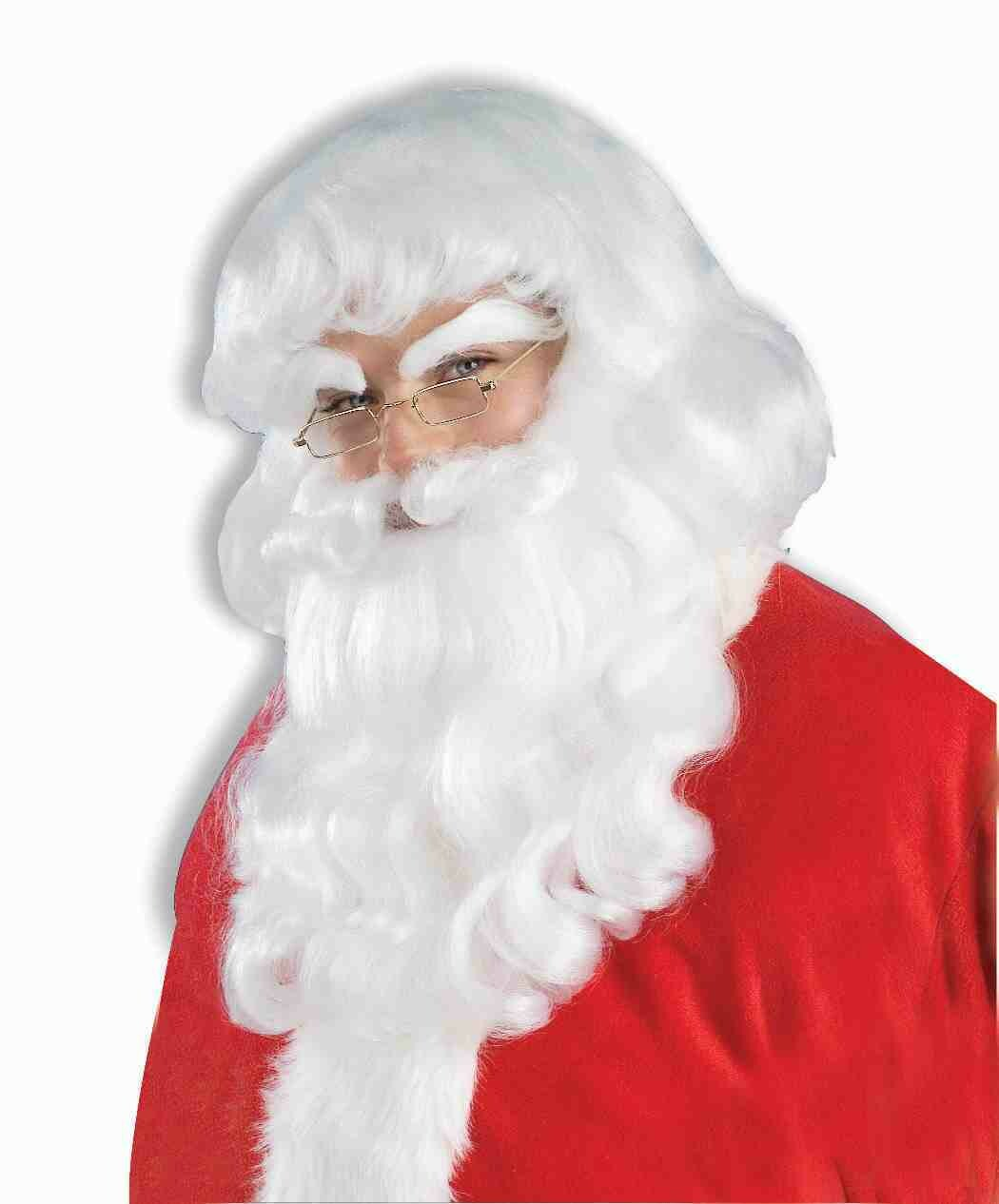 Santa Wig & Beard Set (Pure White)