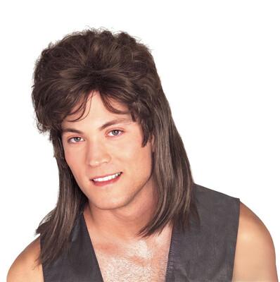 Brown Mullet Wig
