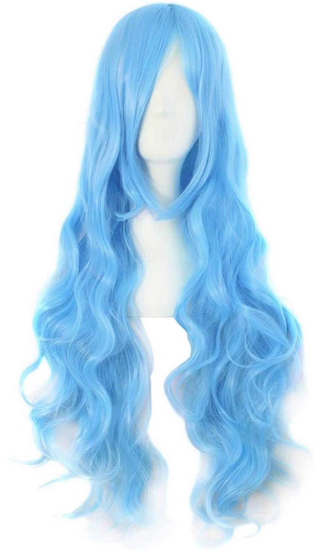 """32"""" Azure Blue Wig"""