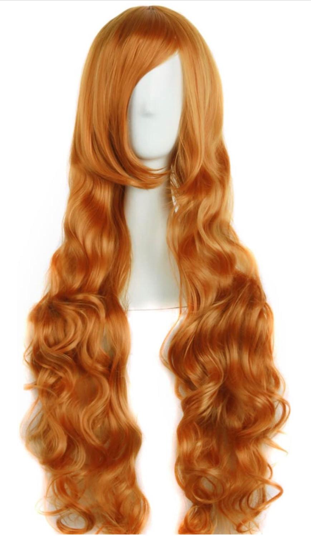 "32"" Golden Orange Wig"