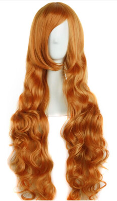 "32"" Golden Orange Wig"