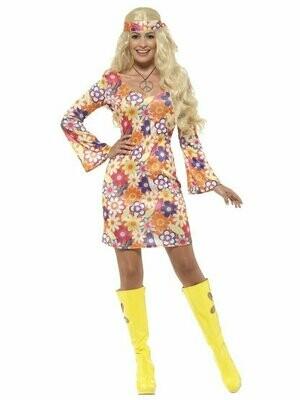Flower Hippie Costume Dress