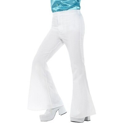 Bell Bottom Trousers White  Ad Std