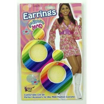 60's MOD Rainbow earrings