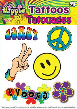 Hippie Flower Power Tattoos
