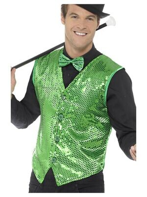 Green Sequined Vest