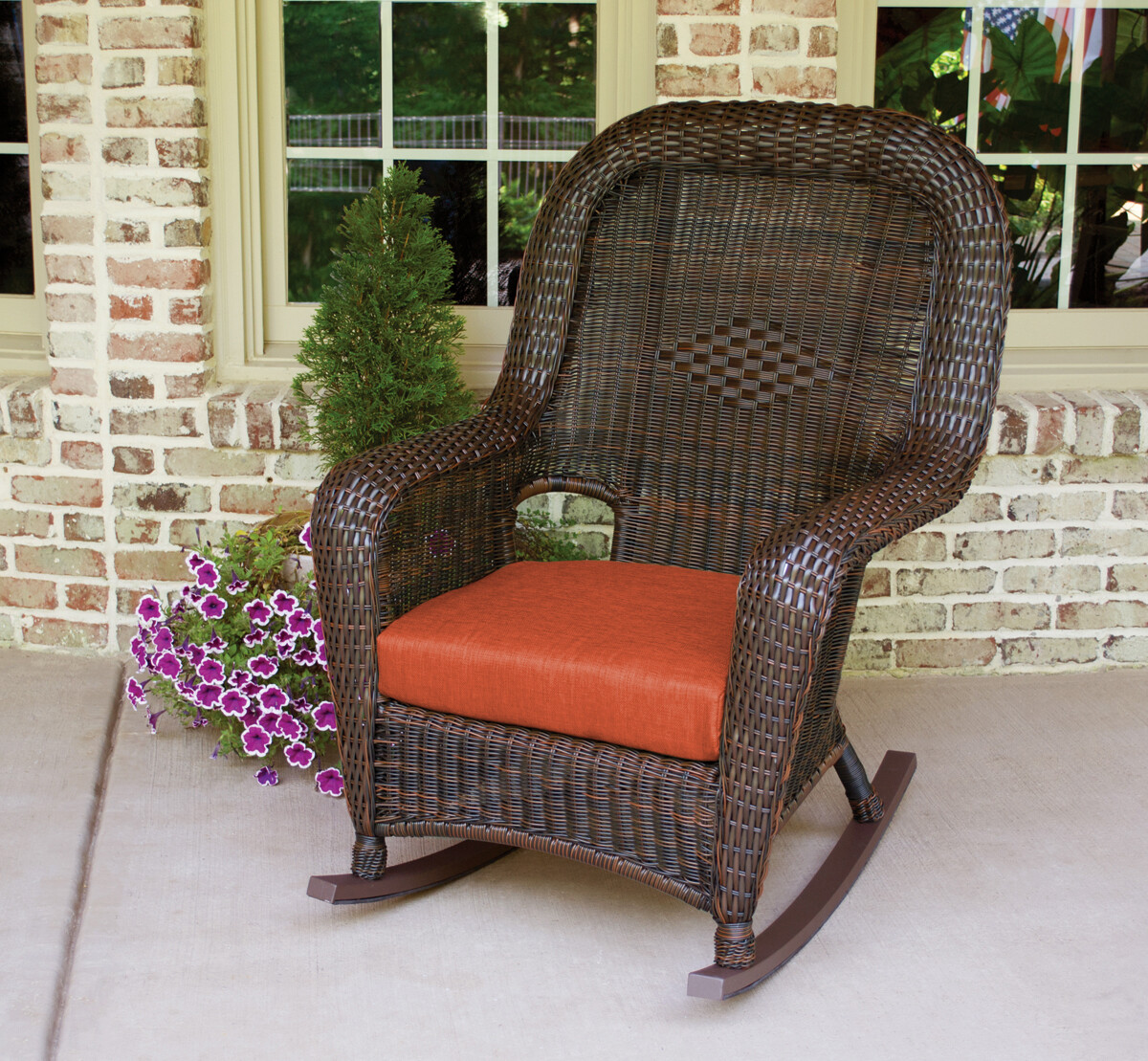 Sea Pine Wicker Java Rocker