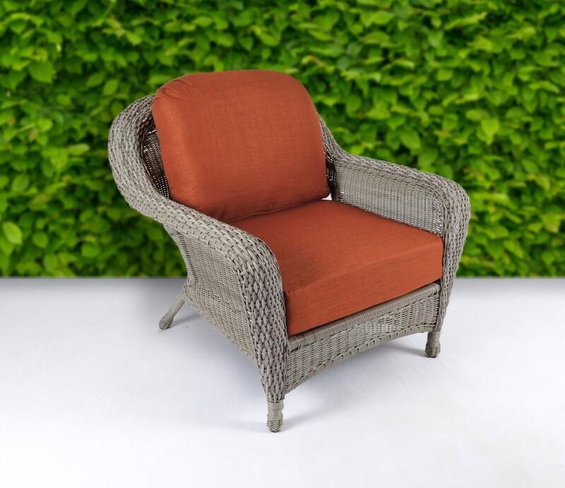 Sea Pine Wicker Driftwood Club Chair