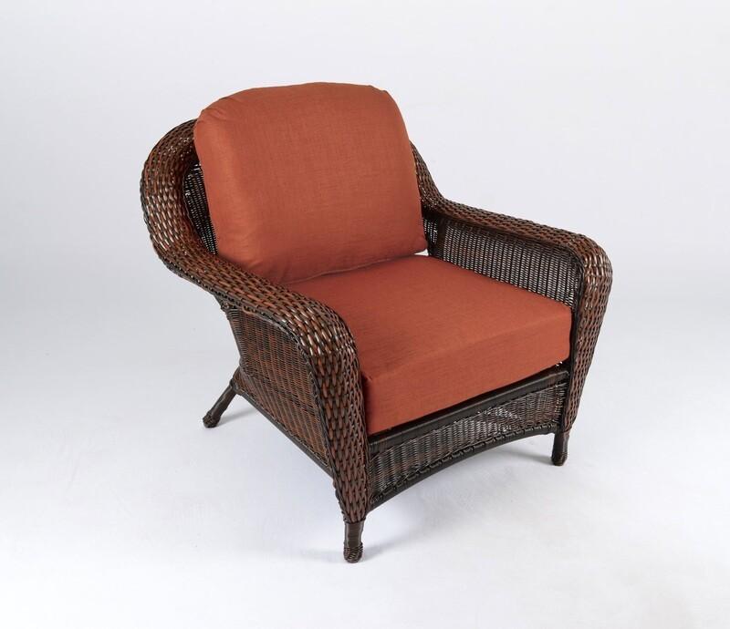 Sea Pine Wicker Java Club Chair