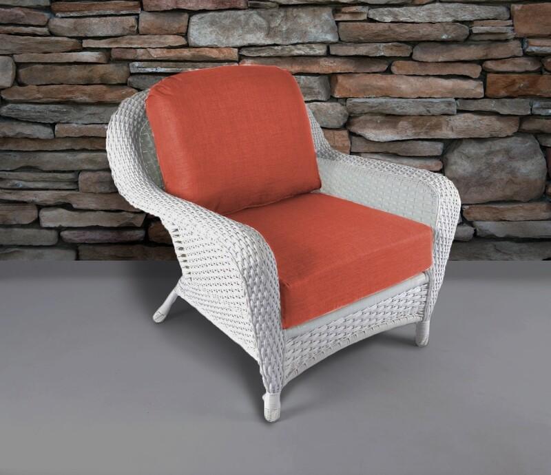 Sea Pine Wicker White Club Chair