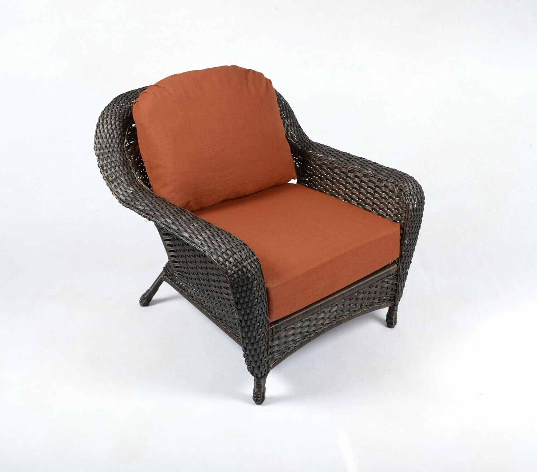 Sea Pine Wicker Tortoise Club Chair