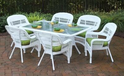Portside 7Pc White Dining Set