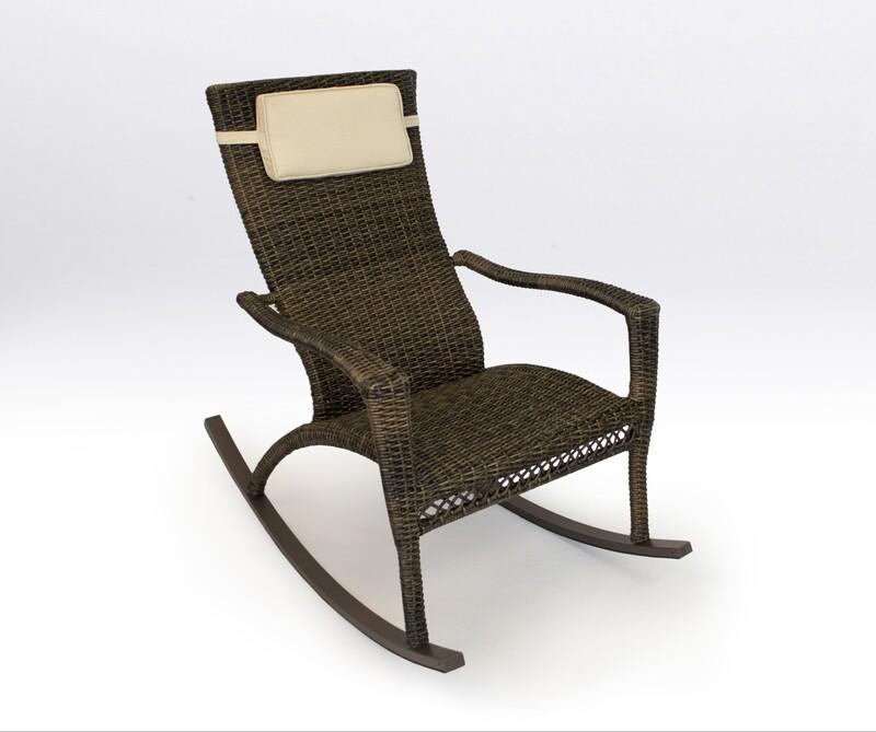 Marcay Pecan Rocking Chair with Head Cushion