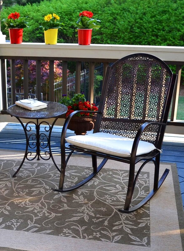 2 Piece Gardener Rocker Chair and Side Table