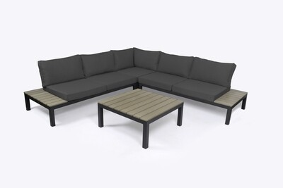 Lakeview 4 Piece Outdoor Sectional Charcoal