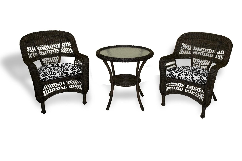 Portside Dark Roast 3 Piece Bistro 2 Chairs and Bistro Table