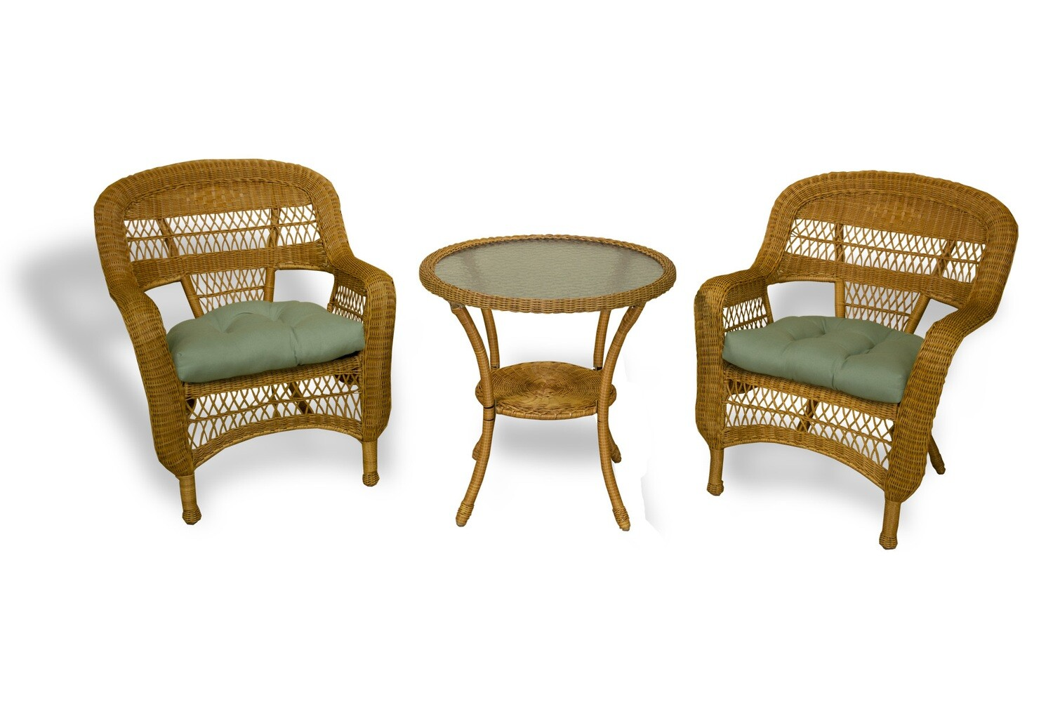 Portside Amber 3 Piece Bistro 2 Chairs and Bistro Table