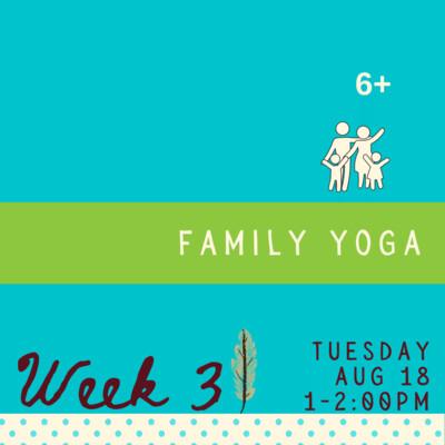 Family Yoga - Tuesday - week three