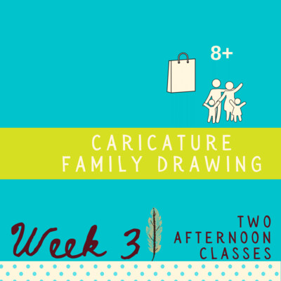 Caricature Family Drawing - Two Part - week three