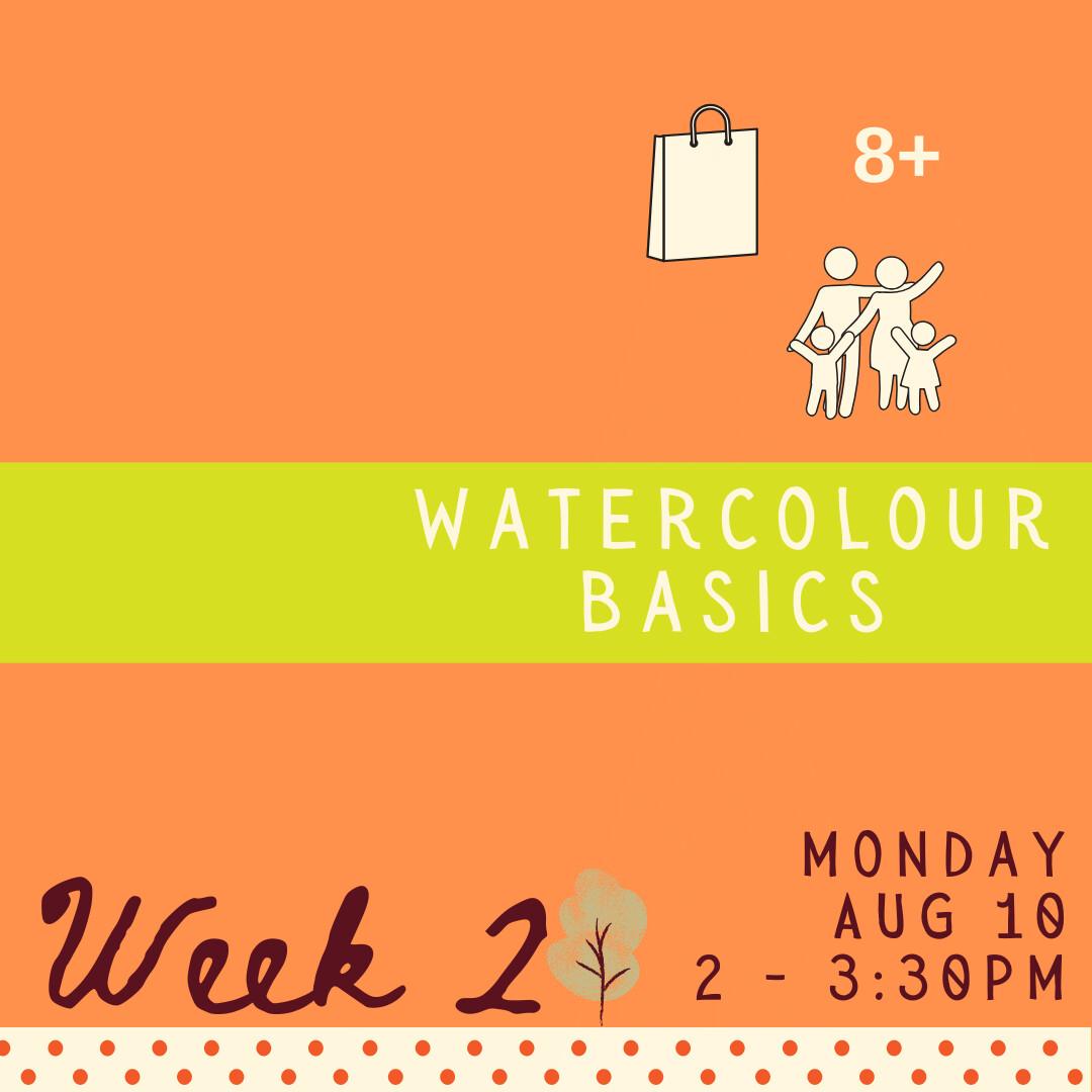 Watercolour Basics - Monday - week two