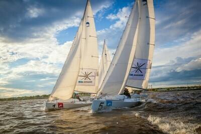 Корпоративная парусная регата в Санкт-Петербурге на спортивных яхтах