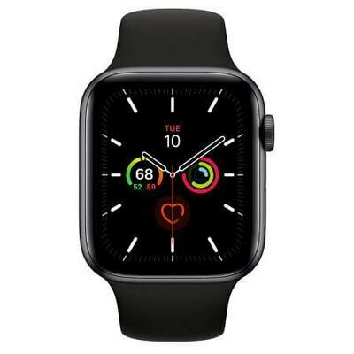Apple Watch Series 5 Корпус из алюминия цвета «серый космос» • Спортивный ремешок