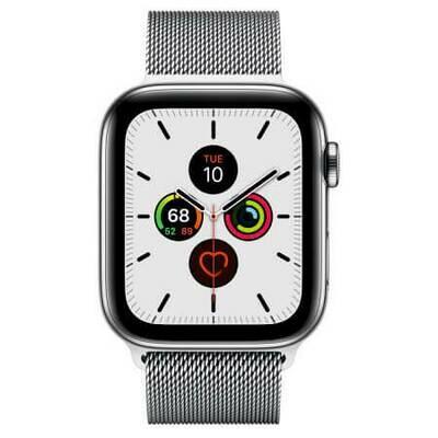 Apple Watch Series 5 Корпус из нержавеющей стали • миланский браслет (серебристый)