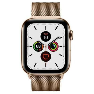 Apple Watch Series 5 Корпус из нержавеющей стали • миланский браслет (золотистый)