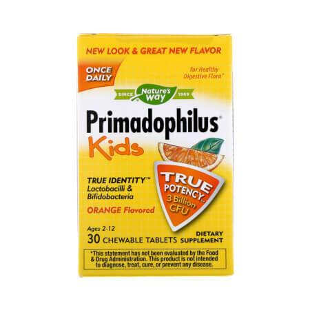 Отличные детские жевательные пробиотики с вкусом Апельсина Primadophilus Kids от NaturesWay