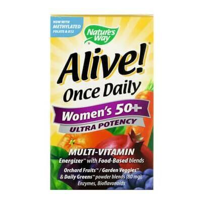 Витаминно-минеральный комплекс для женщин зрелого возраста Alive! Once Daily, Women's 50+, Ultra Potency