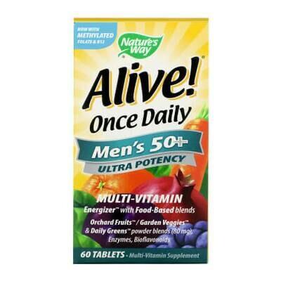Витаминно-минеральный комплекс для мужчин зрелого возраста Alive! Once Daily, Men's 50+, Ultra Potency