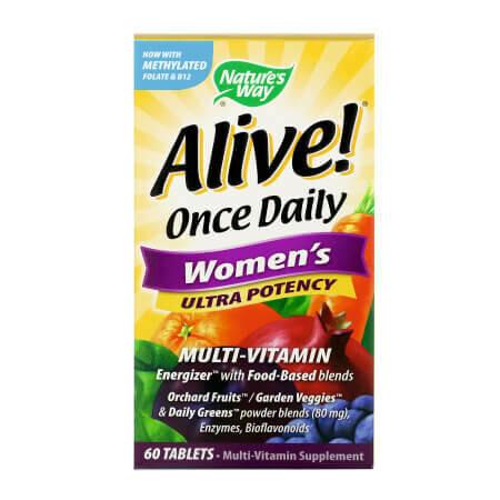 Витаминно-минеральный комплекс для мужчин. Alive! Once Daily, Women's,Ultra Potency