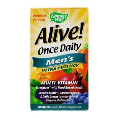 Витаминно-минеральный комплекс для мужчин. Alive! Once Daily, Men's,Ultra Potency