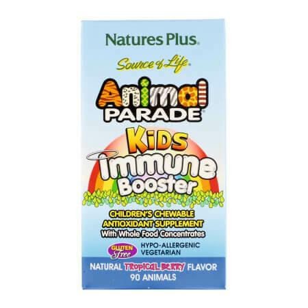 Жевательные таблетки для детей для защиты иммунитета со вкусом тропических ягод от Nature's Plus