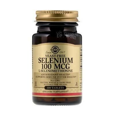 Мощный антиоксидант Solgar Selenium 100MCG