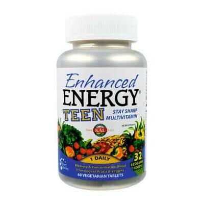 Витамины для подростков Энергия, Память, Концентрация и Рост от Enhanced Energy KAL