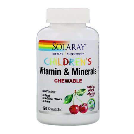 Детские жевательные витаминно-минеральный комплекс Solaray Children's Chewable