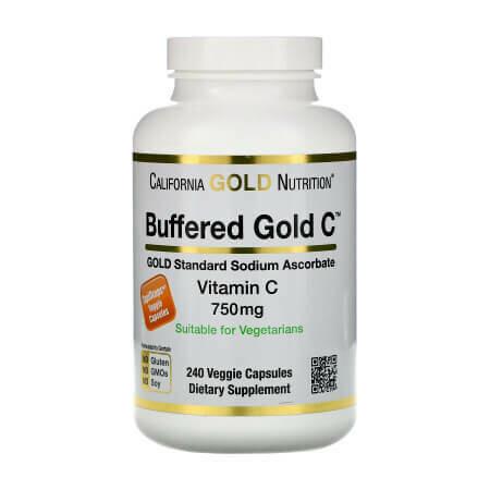 Буферизованный витамин C в капсулах 750 мг от California Gold Nutrition