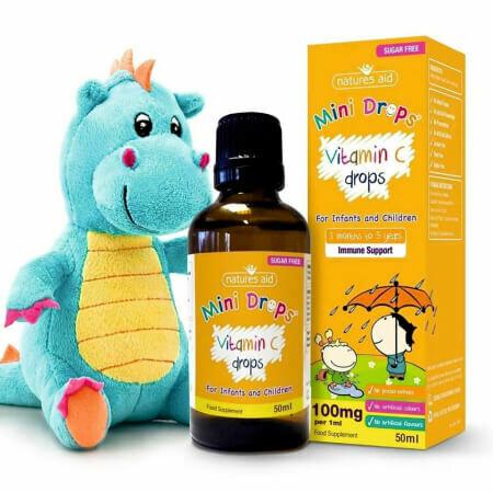 Витамин C - Поддержка иммунной системы младенцев и детей от Natures Aid