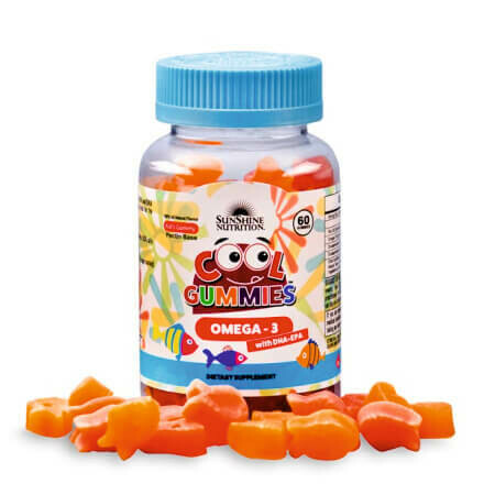 Рыбий жир, Омега-3 для детей с 1 года в виде жевательных конфет SunShine Nutrition Gummy Vitamins