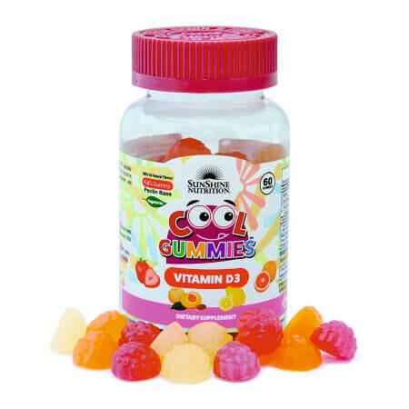 Витамин D3 для Вашего малыша в одной баночке Cool Gummies от SunShine Nutrition