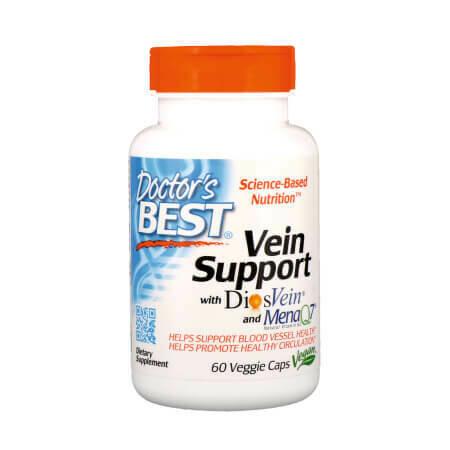 Doctor's Best Поддержка для вен с DiosVein и MenaQ7