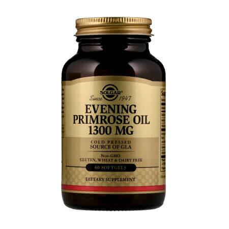 Масло примулы вечерней, Solgar Evening Primrose Oil 1300мг