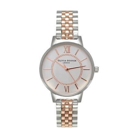 Английские часы Olivia Burton Women's Wonderland RG & Silver Mix Bracelet