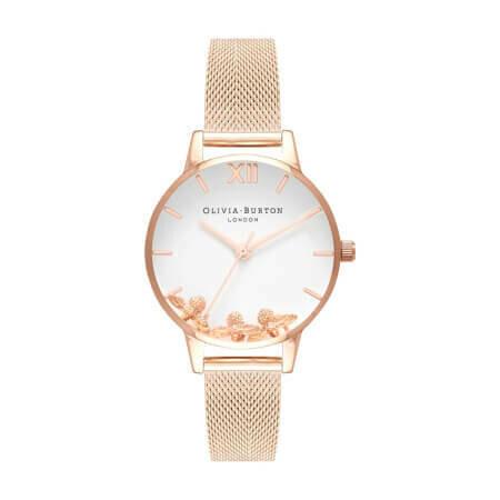 Английские часы Olivia Burton Women's Busy Bees Rose Gold Mesh
