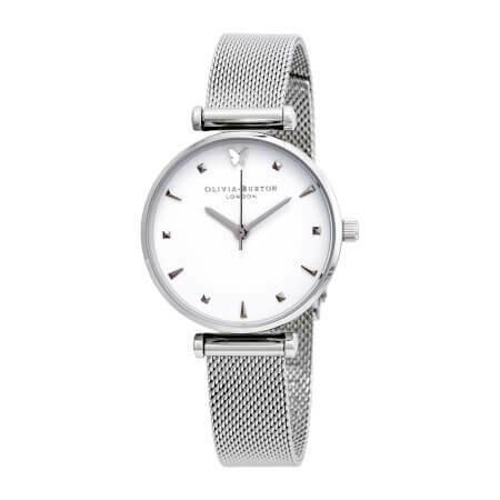 Английские часы Olivia Burton Women's Social Butterfly Silver Mesh