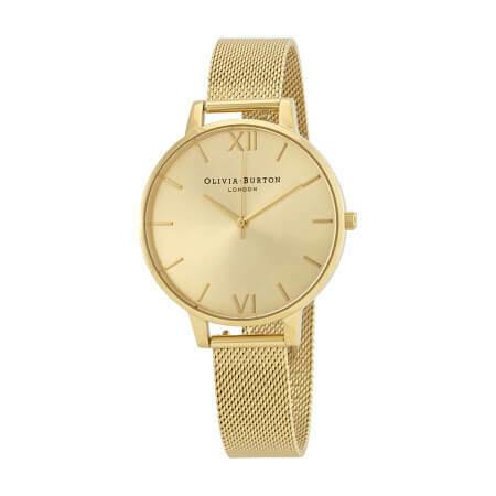 Английские часы Olivia Burton Women's Big Dial Mesh Bracelet Watch Watch
