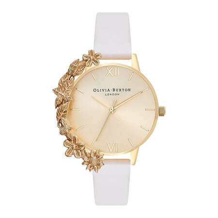 Английские часы Olivia Burton Women's Case Cuffs Nude & Gold