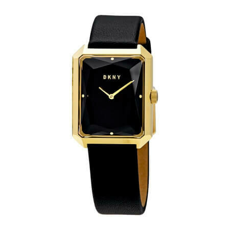DKNY Cityspire Black Dial Black Leather