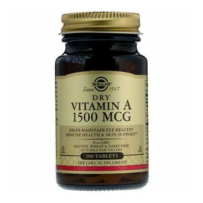 Сухой витамин А 1500 мкг от Solgar